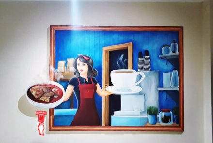 Jasa Lukis dinding Restoran Termurah   Kendari – indoMural