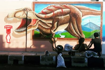 Mural Outdor 3D| Lukis Dinding- IndoMural