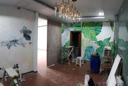 Lukis Dinding   Mural   Motif Bunga – interior