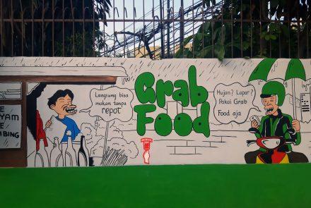 Jasa Mural Kartun – Grab Lounge Kebayoran Lama – indoMural
