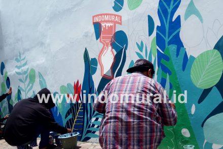 Mural Tropical Untuk Cafe Restoran